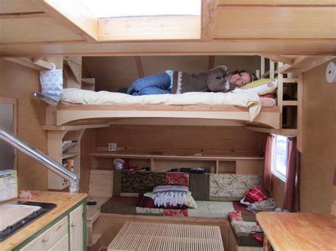 Tiny Home Teardrop Trailer: Interior photos