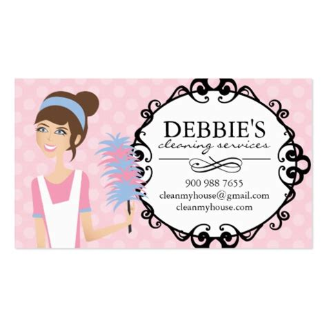 house cleaning company whimsical house cleaning services business cards zazzle