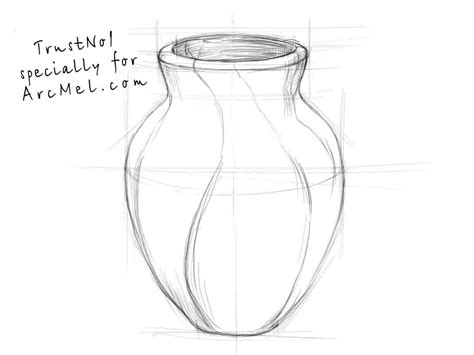 How Do You Draw A Vase how to draw a vase step by step arcmel