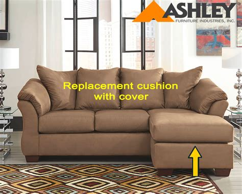 ashley furniture couch cushions ashley 174 darcy replacement chaise cushion and cover