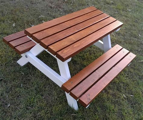 kids wooden picnic bench 1 5 years quality handmade kid s timber picnic table