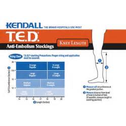 Kendall anti embolism t e d knee high stockings large walmart