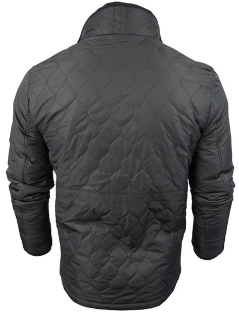 Crosshatch Quilted Jacket by Mens Crosshatch Quilted Jacket Coat Padded Ebay