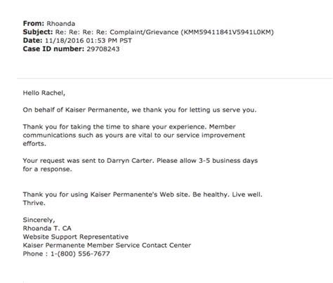 open letter  kaiser permanente northern california thcb