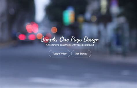 landing zero free bootstrap video background template