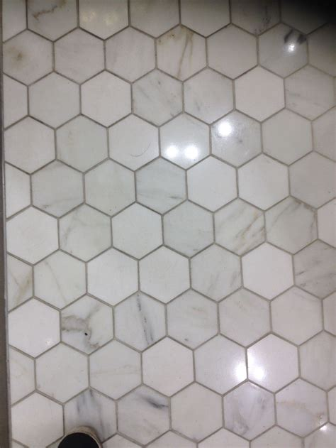 octagonal small bathroom tile mid century modern urban