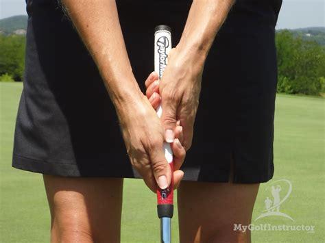 wristy golf swing putting grip in the swing putting
