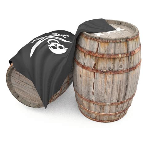 Barrel Pirate by Rum Wooden Barrels Pirate Style 3d Model Obj 3ds Dae Skp