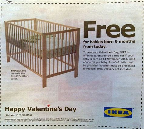 ikea birthday card exterior my family has always done ikea offers free cot to any babies born in australia