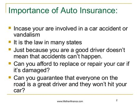 importance  auto insurance  renters insurance