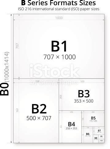 Size Of Format B Paper Sheets Stock Vector Art & More ... B-paper