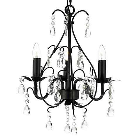 Lighting Gt Wrought Iron Crystal 3 Light Chandelier In Black Iron Chandelier With Crystals