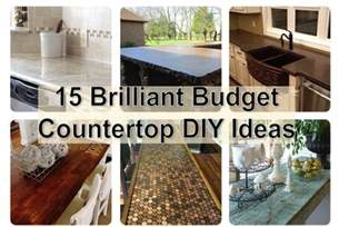 diy kitchen countertops ideas 15 brilliant budget countertop diy ideas find