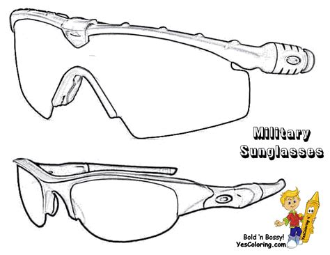 sunglasses coloring page free sunglasses template coloring pages