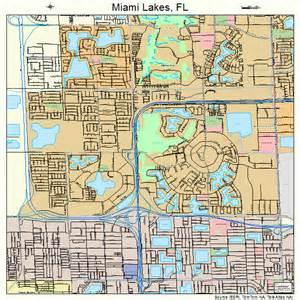 Miami Lakes Map by Miami Lakes Florida Street Map 1245100