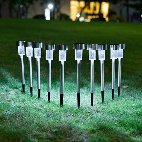 10pcs lot solar panel led spike spot light spotlight