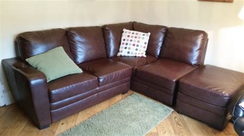 Corner Sofa Leather Sale Leather Corner Sofa And Ottoman For Sale In Rathfarnham Dublin From Mob