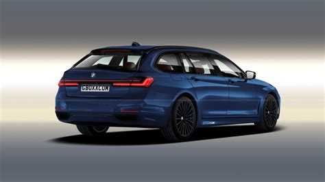 bmw  series lci  rendered  wagon guise