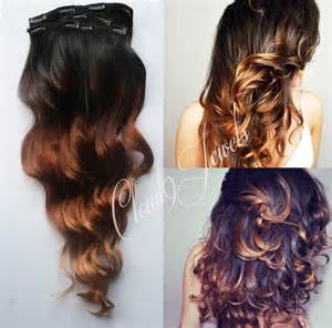 ombre extensions clip in ombre hair extensions black to bronzed brown