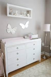 Nursery Changing Tables Pink Ivory And Grey Nursery Project Nursery