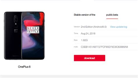 oneplus 6 hydrogen os beta 4 android 9 pie with