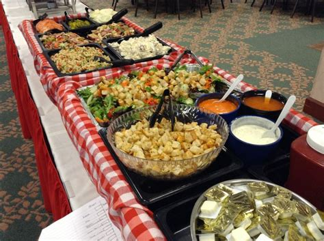 buffet style salad bar christmas party bbq catering