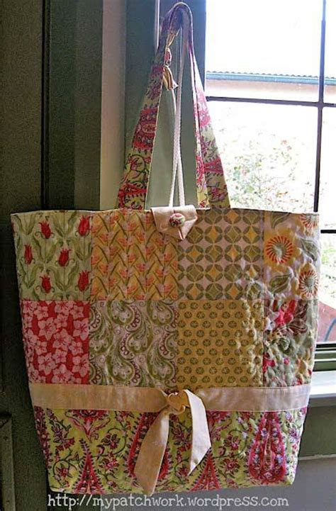 charm pack tote bag free sewing pattern