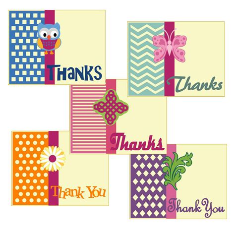 pattern of thank you card invue project pattern thank you card pazzles craft room
