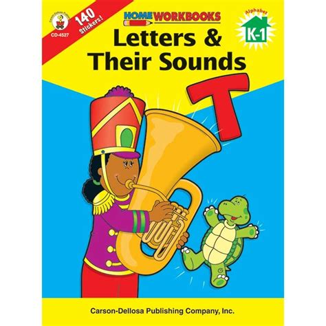 Letters And Sounds Home Workbooks With 140 Stickers Inside Us Lrn Pr home workbook letters their gr k 1 sounds cd 4527