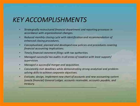 accomplishments for resume exles resume sle key accomplishments resume ixiplay free