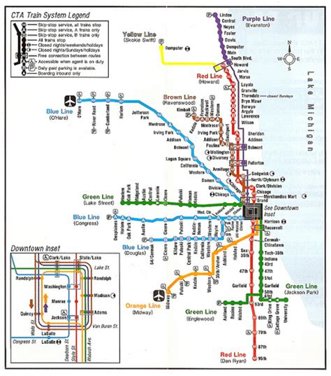orange line map chicago july 1993 orange line brochure flickr photo