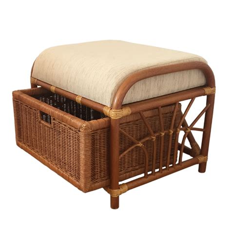 rattan ottoman storage furniture rattan ottoman storage box color light brown