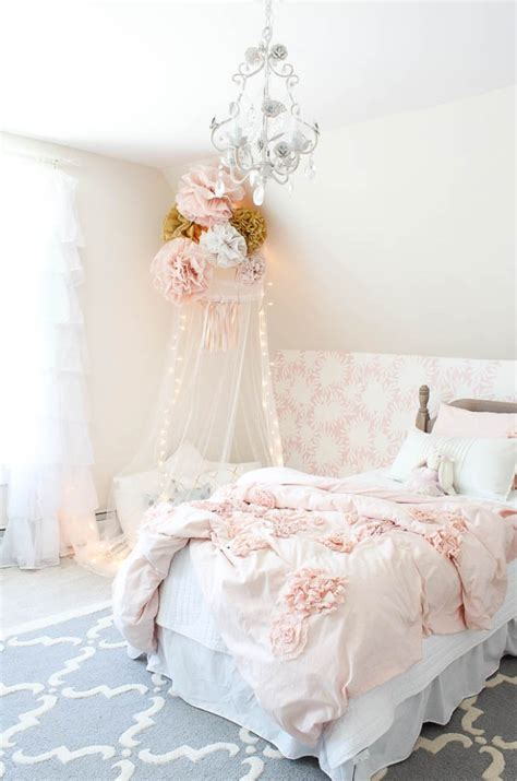 How To Decorate Canopy Bed vintage little girls room reveal rooms for rent blog