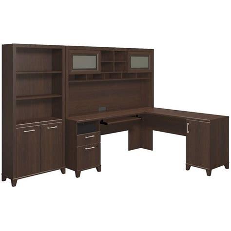3 piece office desk bush achieve 3 piece l shape desk office set in sweet