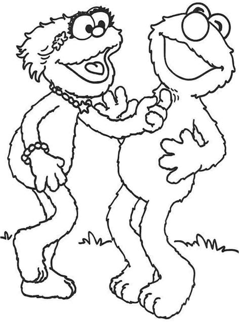 Sesame Street Elmo Coloring Pages Coloring Home Zoe Coloring Pages