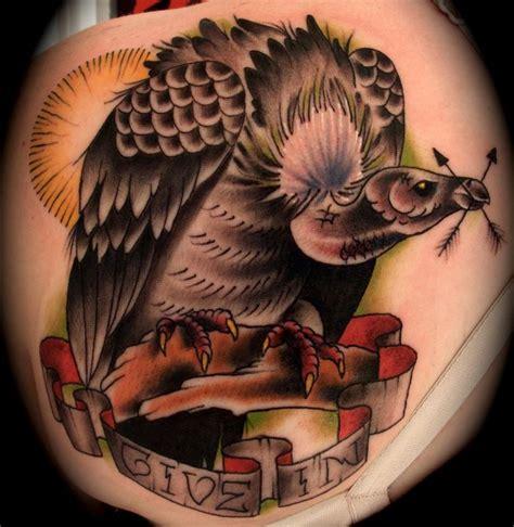 art junkies tattoo vulture traditional brent junkies