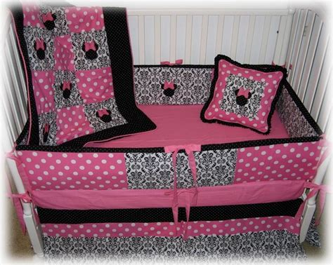 Minnie Mouse Toddler Bedroom Com Pc Baby Girl Disney Pink Minnie Crib Bedding