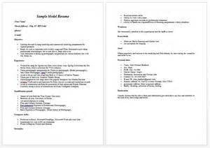 How To Make A Modeling Resume Modeling Resume Sample Free Latest Resume Format