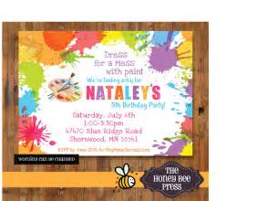 art birthday party invitations for your kids bagvania