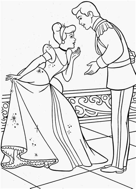 14 gambar mewarnai princess cinderella untuk anak terbaru