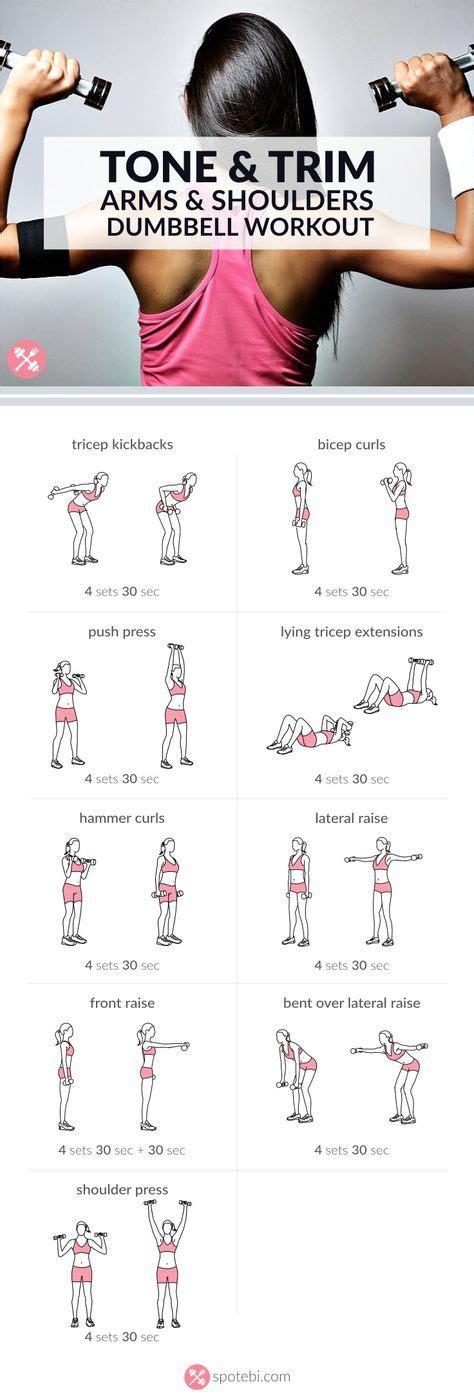 tonificare interno braccia 17 migliori idee su esercizi per le braccia su