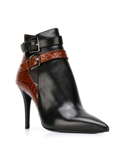 fendi boots for fendi buckled ankle boots in blue lyst