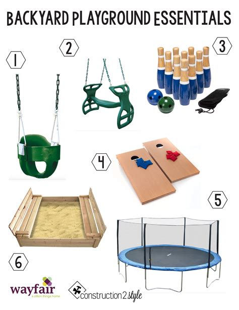 backyard essentials backyard playground essentials construction2style