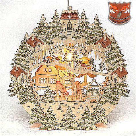 Fensterdeko Weihnachten Beleuchtet Bunt by Fensterbild Beleuchtet Mit Geschnitzten Rehen Best 252 Ckt