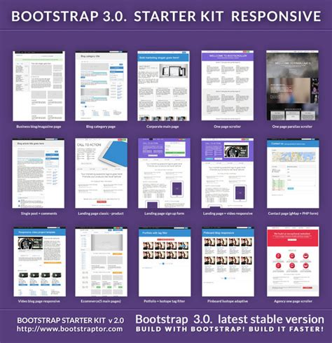 pinterest layout bootstrap bootstrap starter responsive kit by bootstraptor