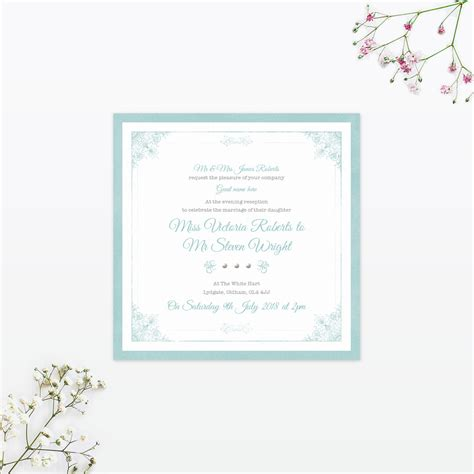 Single Card Wedding Invitations by Vintage Chic Sles Invited Luxury Wedding