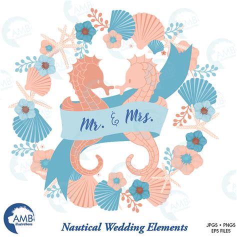 Nautical Wedding Clipart by Nautical Clipart Coastal Clipart Wedding Clip