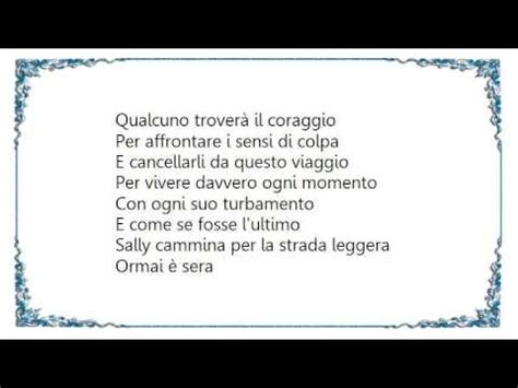 sally vasco testo vasco sally lyrics