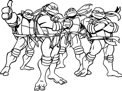 cartoon ninja coloring pages ninja turtles cartoon coloring page wecoloringpage
