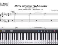 merry christmas  lawrence ryuichi sakamoto  piano sheet  piano chords